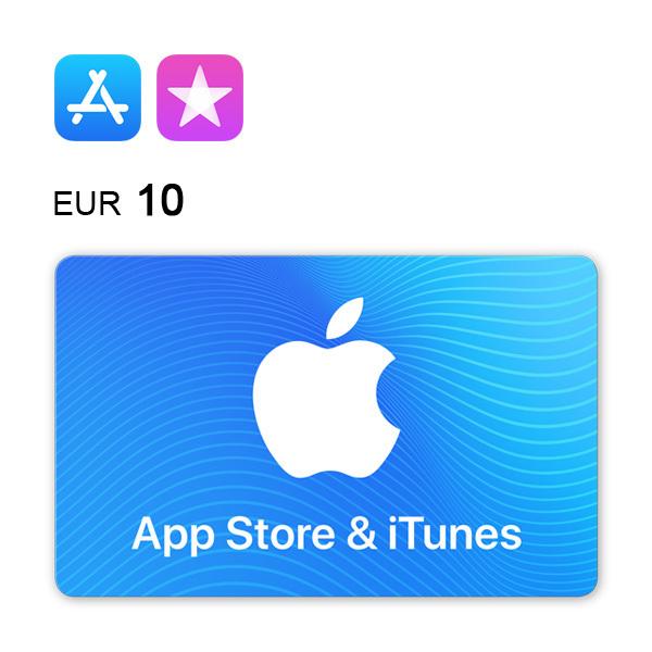 Cartão de Oferta da App Store & iTunes – Código Digital 10€Imagem