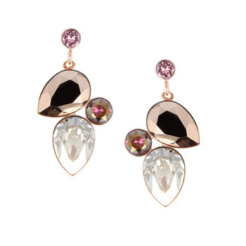 Otazu Caramel Crystal Earrings