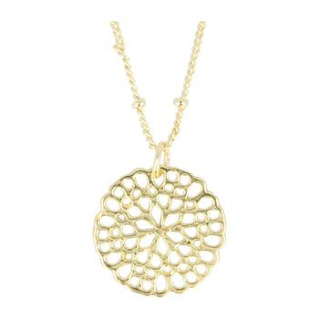 Otazu Flower Disc Necklace - Gold