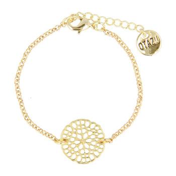 Otazu Flower Disc Bracelet - Gold