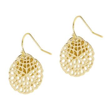Otazu Flower Disc Earrings - Gold
