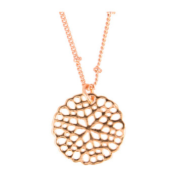 Otazu Flower Disc Necklace - Rose Gold