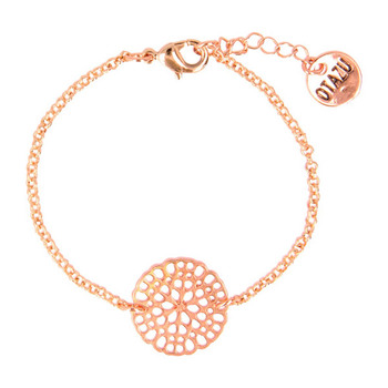 Otazu Flower Disc Bracelet - Rose Gold