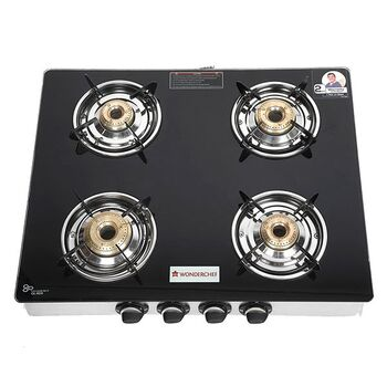 Wonderchef ZEST 4-Burner Glass Cooktop