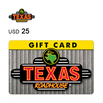 Texas Roadhouse e-Gift Card $25