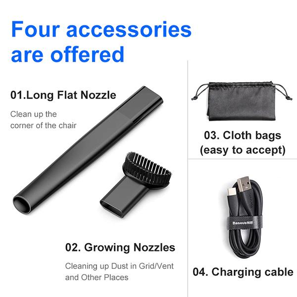 Trends Capsule Cordless Mini Portable Handheld Vacuum CleanerImage