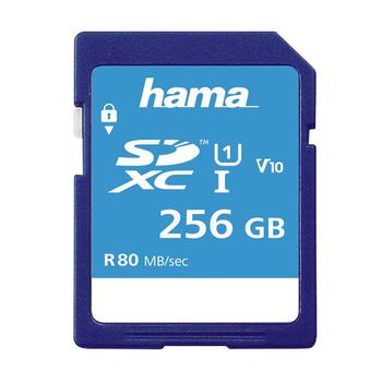 Hama SDXC UHS-I Class 10 Memory Card 256GB
