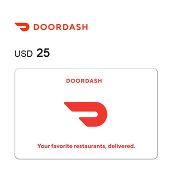 DoorDash e-Gift Card $25