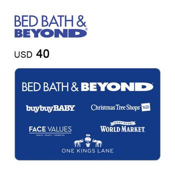 Bed Bath & Beyond e-Gift Card $40