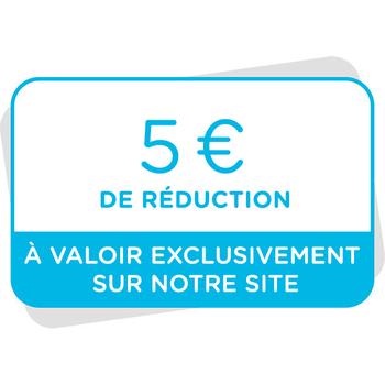 Bon de réduction de 5€ à valoir sur notre site