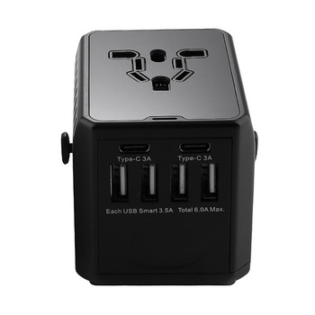 Trends Rotation Type Multifunctional Travel Adapter