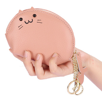 Trends Cute Coin Genuine Leather Purse Wallet Key Bag