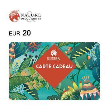 Carte cadeau Nature & Découvertes de 20€