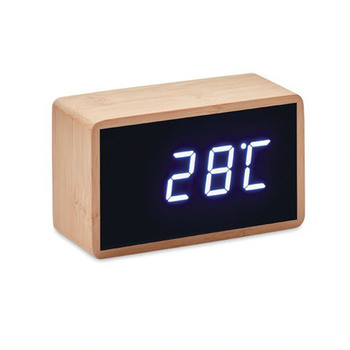 Réveil LED avec boîtier en bambou − Miri Clock