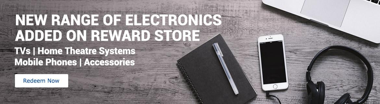 New range of Electronics added on Reward Store