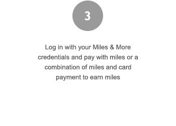 Log in with your program credentials and pay with any combination of miles and payment card
